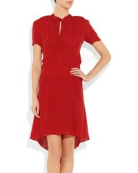 JOSEPH   Red Cinders Silk-Georgette Dress   Lyst