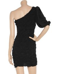 M Missoni | Black One-shoulder Cotton-crepe Dress | Lyst