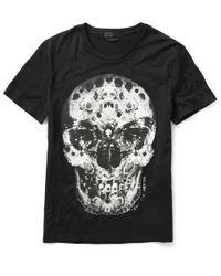 Alexander McQueen | Black - Skull And Snake Print T-shirt - Men - Cotton - Xs for Men | Lyst