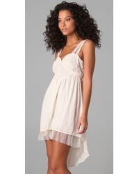 Free People | White Confetti & Lace High Low Dress | Lyst