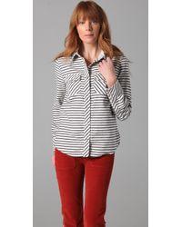 Textile Elizabeth and James | Black Western Shirt | Lyst