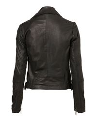 Topshop | Black Traditional Biker Jacket | Lyst