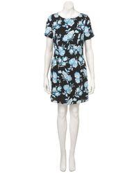 TOPSHOP - Blue Bright Floral Shift Dress - Lyst