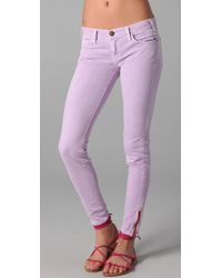 Current/Elliott | Purple The Ankle Skinny Jeans | Lyst