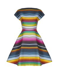 House of Holland | Multicolor Cap Sleeve Dress | Lyst