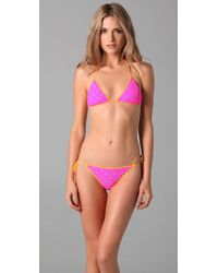 Marc By Marc Jacobs | Pink Cleo Print Reversible Bikini Bottoms | Lyst