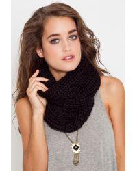Nasty Gal - Infinity Knit Scarf - Black - Lyst