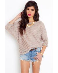 Nasty Gal | Brown Fuzzy Stripe Knit | Lyst