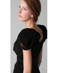 Notte by Marchesa - Black V Neck Gown - Lyst