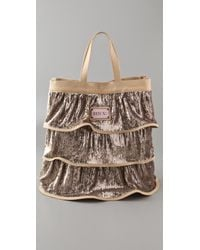 RED Valentino | Metallic Sequin Tiered Tote | Lyst