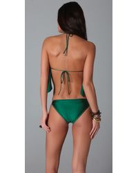 Thayer | Green Ruffle One Piece | Lyst