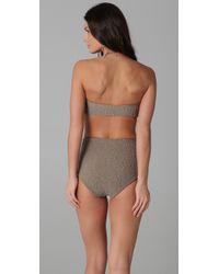 Tori Praver Swimwear   Gray Betty Bikini Top   Lyst