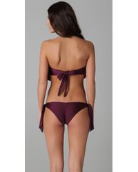 Tori Praver Swimwear - Purple Dusty Bikini Top - Lyst