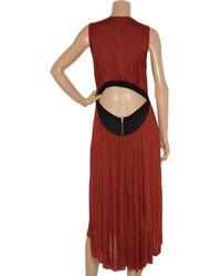 A.L.C. - Red Peak-a-back Contrast Jersey Dress - Lyst