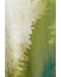Bottega Veneta - Green Printed Silk Asymmetric Tunic Dress - Lyst