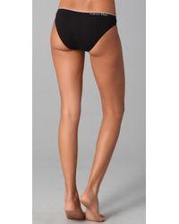 Calvin Klein | Black Seamless Bikini Briefs | Lyst