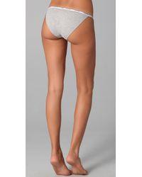 Calvin Klein - Gray Ck One Cotton Bikini Briefs - Lyst