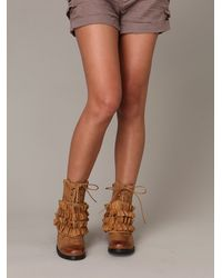 Free People | Brown All Ruffle Field Boot | Lyst