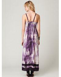 Free People | Purple Fp One Tie Dye Sunburst Maxi Dress | Lyst