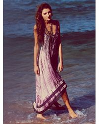 Free People - Purple Fp One Tie Dye Sunburst Maxi Dress - Lyst