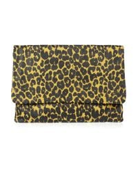 Jas MB | Multicolor Lisa Leopard-Print Leather Clutch | Lyst