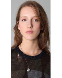 Pamela Love - Metallic Skull Pendant Necklace - Lyst