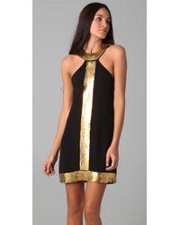 Sheri Bodell - Black Venus Metal Halter Dress - Lyst