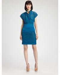 Akris Punto - Blue Cotton Pencil Skirt - Lyst
