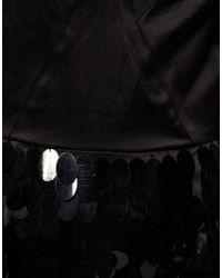 ASOS Collection - Black Asos Petite Premium Pailette Knicker Short Playsuit - Lyst