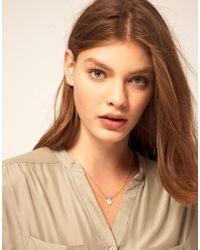 ASOS Collection - Metallic Asos A Mini Initial Pendant Necklace - Lyst