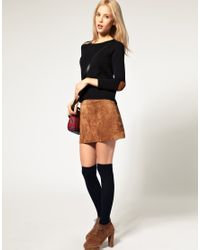 ASOS Collection - Black Jumper with Heart Elbow Patch - Lyst