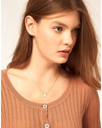 ASOS Collection - Metallic Asos R Mini Initial Pendant Necklace - Lyst