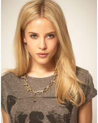 ASOS Collection - Metallic Asos Spike Collar Necklace - Lyst