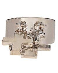 ASOS Collection - Metallic Asos Cross Charms Ring - Lyst