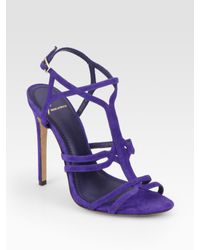 B Brian Atwood | Blue Lorrina Suede High Heel Sandals | Lyst