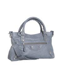 Balenciaga | Gray Grey Lambskin City Bag | Lyst