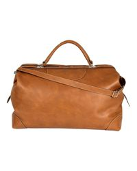 Calabrese Bags - Brown Napoli Large Leather Doctors Bag for Men - Lyst