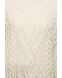 Chloé - Natural Cable Knit Poncho - Lyst