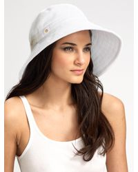 Eric Javits | White Terry Sun-blocker Hat | Lyst