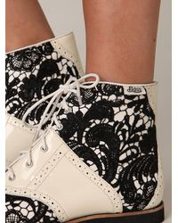 Free People - Black Beatrix Lace Boot - Lyst