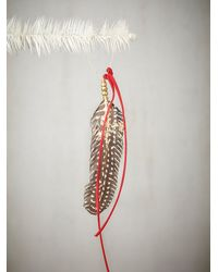 Free People | Red Aziza Golden Feather Ornament | Lyst