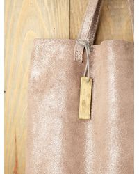 Free People - Natural Cava Shimmer Tote - Lyst