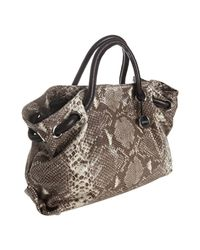 Furla   Gray Roccia Snake Embossed Leather Carmen Medium Tote   Lyst