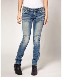 G-Star RAW | Blue New Elva Slim Tapered Jeans | Lyst