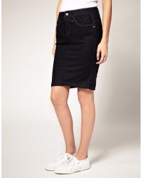 G-Star RAW | Blue G-Star Denim Pencil Skirt | Lyst