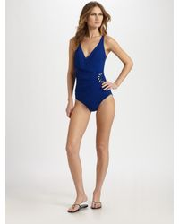 Gottex | Blue Half Moon One-Piece Shaping Swimsuit | Lyst
