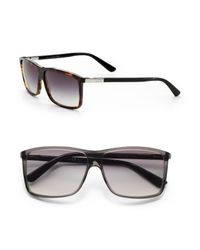 Gucci | Brown Wayfarer Sunglasses for Men | Lyst