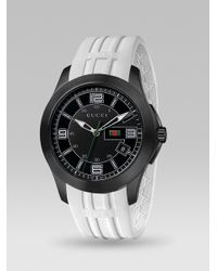 Gucci | Black G-timeless Extra Large Rubber Strap Watch | Lyst