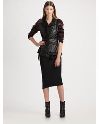 Haider Ackermann | Black Leather Wrap Jacket | Lyst
