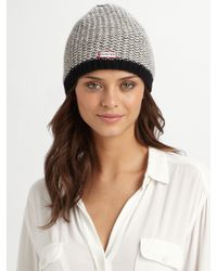 Hunter | White Herringbone-inspired Knit Hat | Lyst